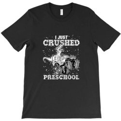 kids i just crushed preschool dinosaur t rex gaming monster truck T-Shirt | Artistshot