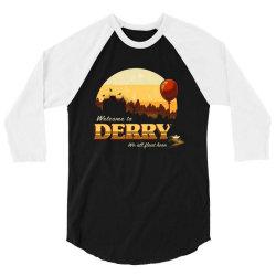 welcome to derry 3/4 Sleeve Shirt | Artistshot