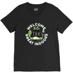 welcome to the great indoors V-Neck Tee | Artistshot