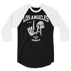 los angeles la city of angels 3/4 Sleeve Shirt | Artistshot