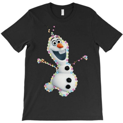 Olaf Christmas T-shirt Designed By Woko Art