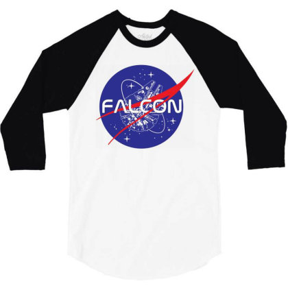 Falcon Space Agency 3/4 Sleeve Shirt Designed By Gotthis Tees