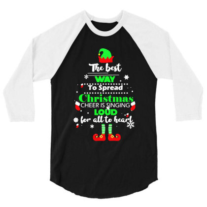 Elf Christmas 3/4 Sleeve Shirt Designed By Gotthis Tees