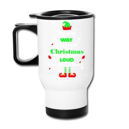 Elf Christmas Travel Mug Designed By Gotthis Tees