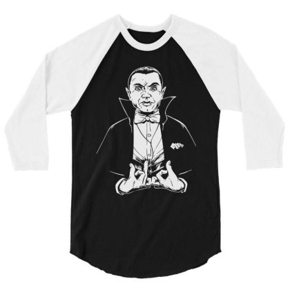 Dracula 3/4 Sleeve Shirt Designed By Gotthis Tees
