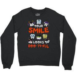 smile  boo ti ful halloween Crewneck Sweatshirt   Artistshot
