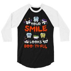 smile  boo ti ful halloween 3/4 Sleeve Shirt   Artistshot