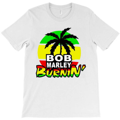 Bob Marley Burnin T-shirt Designed By Marley Tees