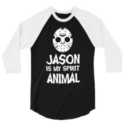 jason mask is my spirit animal friday 13th horror halloween 3/4 Sleeve Shirt | Artistshot