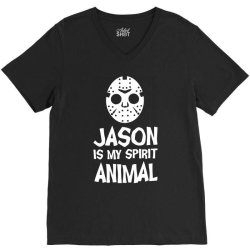 jason mask is my spirit animal friday 13th horror halloween V-Neck Tee | Artistshot