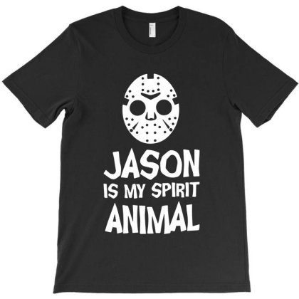 Jason Mask Is My Spirit Animal Friday 13th Horror Halloween T-shirt Designed By Woko Art