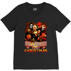 funny horror movie halloween is my christmas V-Neck Tee | Artistshot