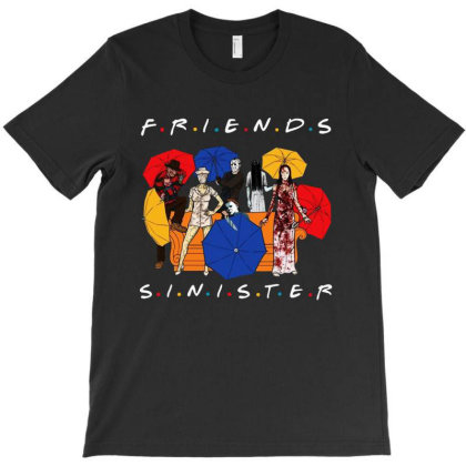 Funny Horror Friends Sinister T-shirt Designed By Woko Art