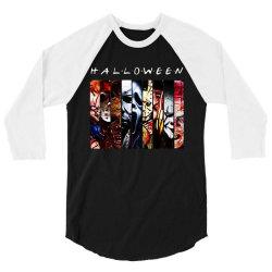funny horror characters halloween 3/4 Sleeve Shirt   Artistshot