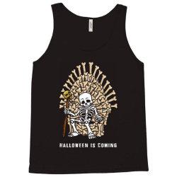 funny halloween skeleton bones throne Tank Top | Artistshot