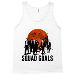 funny halloween squad goals horror characters moon Tank Top | Artistshot