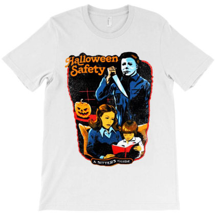 Halloween Safety A Sitter's Guide T-shirt Designed By Woko Art