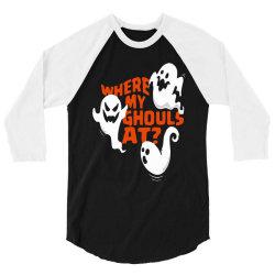 funny halloween ghost 3/4 Sleeve Shirt | Artistshot