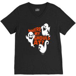 funny halloween ghost V-Neck Tee | Artistshot