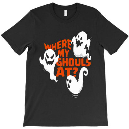 Funny Halloween Ghost T-shirt Designed By Woko Art