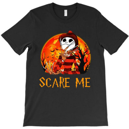 Funny Halloween Freddy Jack Skellington Normal People Scare Me T-shirt Designed By Woko Art