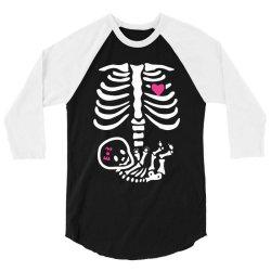 funny baby girl skeleton halloween pregnancy 3/4 Sleeve Shirt | Artistshot