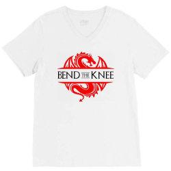 bend the knee V-Neck Tee | Artistshot