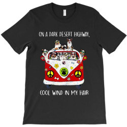 funny australian shepherd dog cool wind in my hair T-Shirt | Artistshot