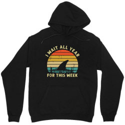 funny shark   i wait all year for this week Unisex Hoodie | Artistshot