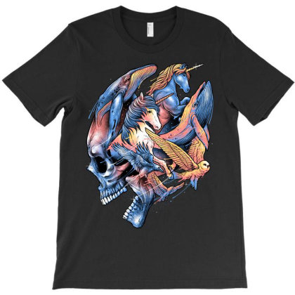 Thoughts Escaping T-shirt Designed By Glitchygorilla