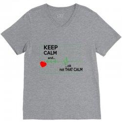 Keep Calm Nurse V-Neck Tee   Artistshot