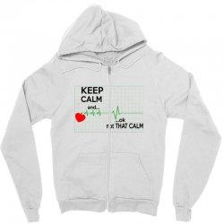 Keep Calm Nurse Zipper Hoodie   Artistshot