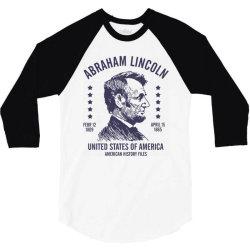 abraham lincoln united states america 3/4 Sleeve Shirt   Artistshot