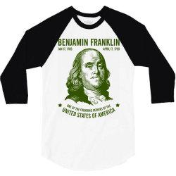benjamin franklin united states america 3/4 Sleeve Shirt | Artistshot