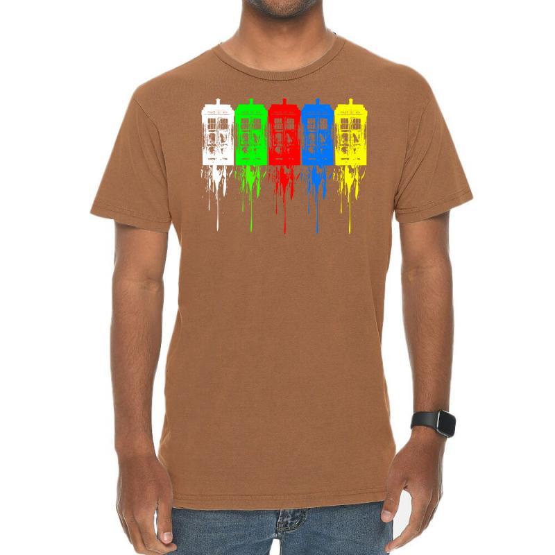 Tardis Dr Who Vintage T-shirt | Artistshot