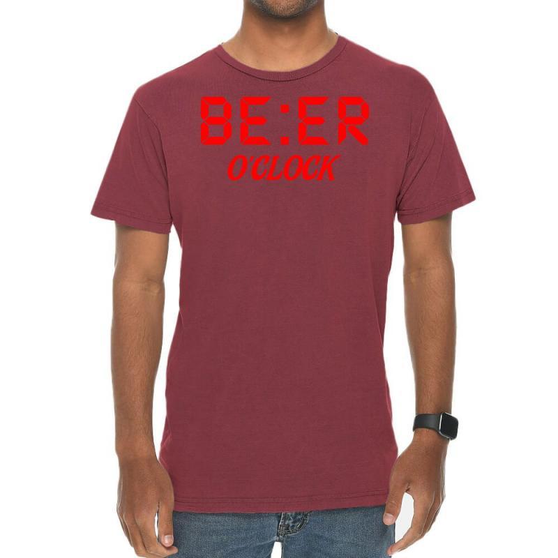 Beer O'clock Vintage T-shirt | Artistshot