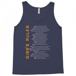 Gibbs's Rules Tank Top | Artistshot
