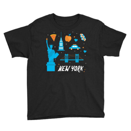 New York City, America, Usa Youth Tee Designed By Estore