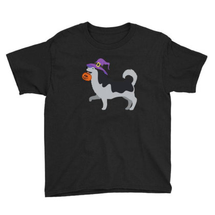 Husky Halloween T Shirt Youth Tee Designed By Gnuh79