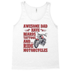 funny beard awesome dad beard tattoos and motorcycles Tank Top | Artistshot