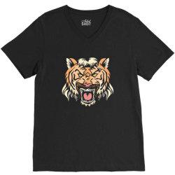 tiger mullet V-Neck Tee | Artistshot