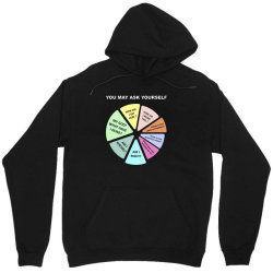 you may ask yourself 80's music retro lyrics pie chart Unisex Hoodie | Artistshot