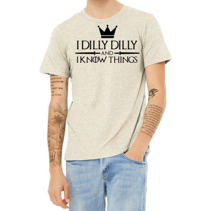Crown I Dilly Dilly And I Know Things Beer Heather T-shirt Designed By Fanshirt