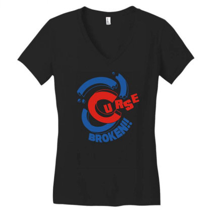 Curse Broken Women's V-neck T-shirt Designed By Fanshirt