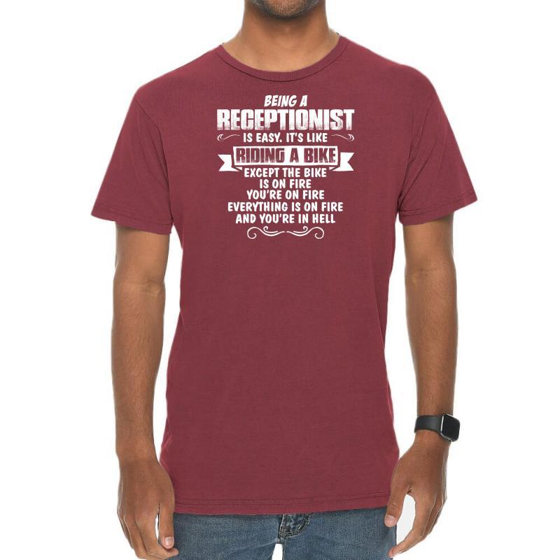 Being A Receptionist Vintage T-shirt | Artistshot
