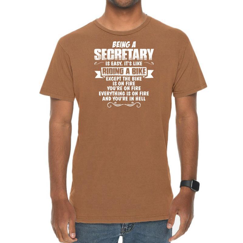 Being A Secretary Vintage T-shirt | Artistshot
