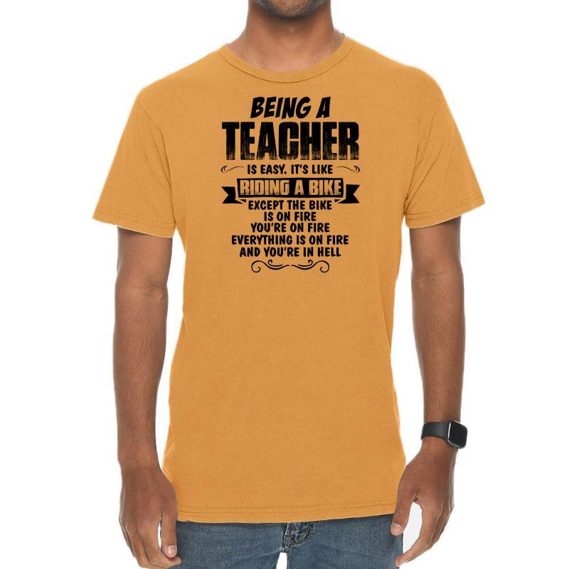 Being A Teacher Copy Vintage T-shirt | Artistshot