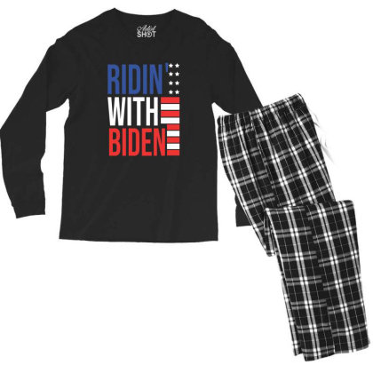 Riding With Biden Men's Long Sleeve Pajama Set Designed By Hoainv