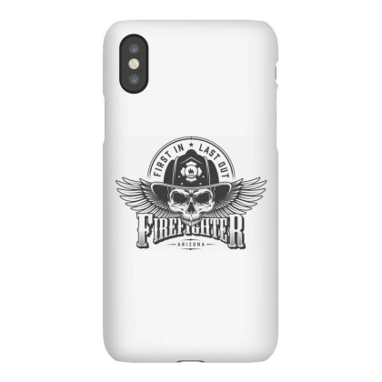 First In, Last Out, Firefighter, Fire, Fireman, Arizona, Skull Iphonex Case Designed By Estore