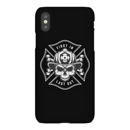 First In, Last Out, Firefighter, Fire, Fireman, Skull Iphonex Case Designed By Estore
